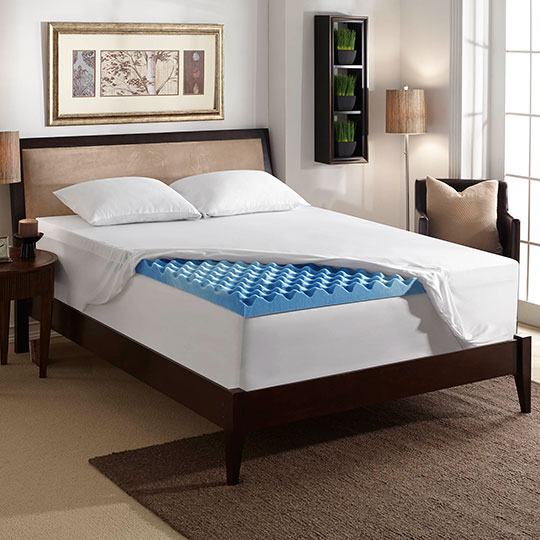 3-inch Gel Mattress Topper with Air Channels | Sleep Innovations