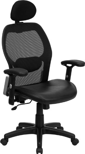 Amazon.com: High Back Super Mesh Office Chair with Black Italian