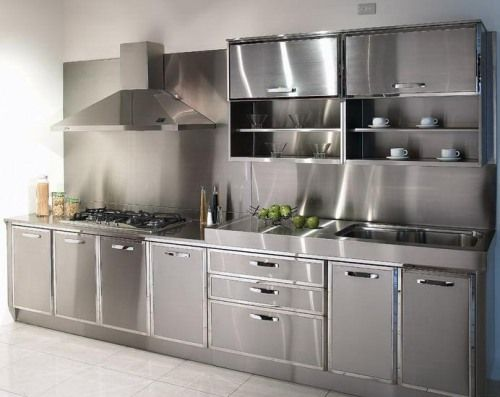 Reviving the Modern look using metal  kitchen cabinet