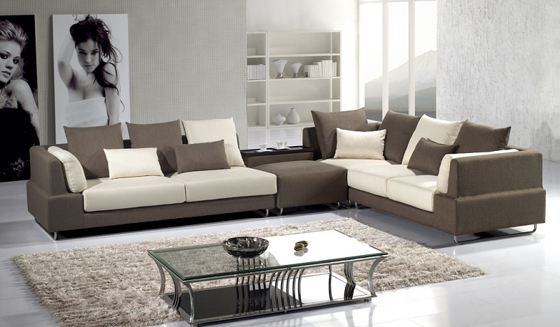 Modern Brown Microfiber Sectional Sofa - Shop for Affordable Home