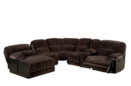 Amazon.com: Furniture of America Ladden Elephant Skin Microfiber