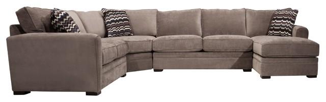 Artemis II 4-pc. Microfiber Sectional Sofa