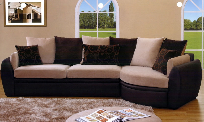 Multifunctional Microfiber Sectional Couches U Shaped Sectional