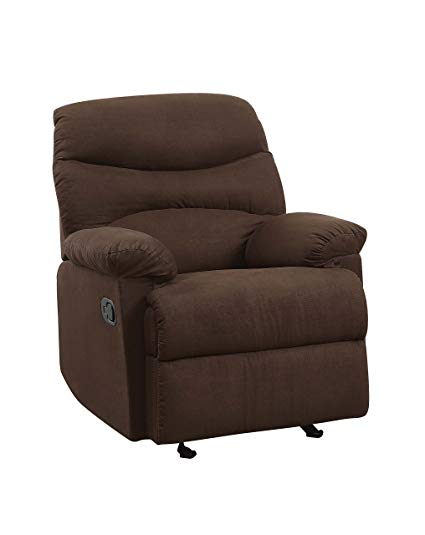 Amazon.com: ACME Arcadia Chocolate Microfiber Recliner: Kitchen & Dining