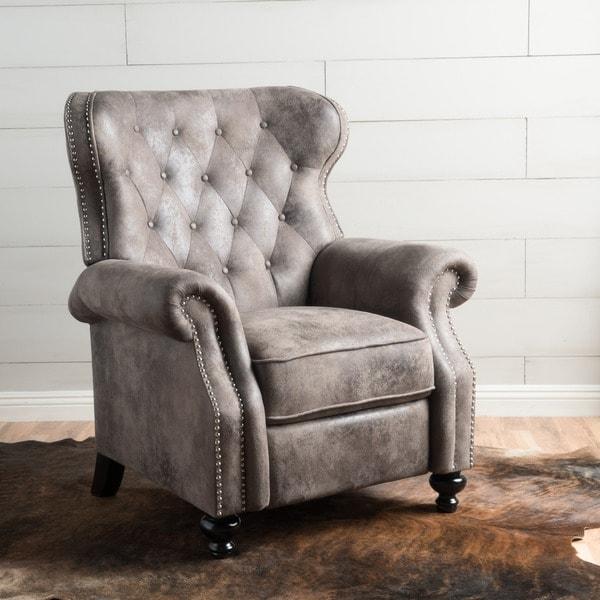 Shop Walder Tufted Microfiber Recliner Club Chair by Christopher