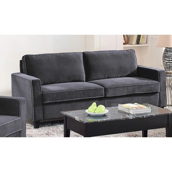 Shop Lifestyle Solutions Grayson Grey Microfiber Sofa - Free