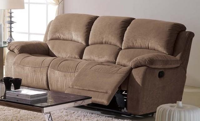 Ladonna Microfiber Reclining Sofa