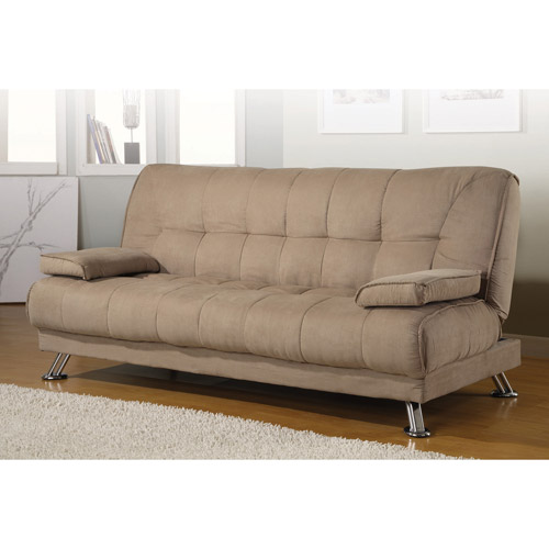 Coaster Company Braxton Microfiber Sofa Bed, Beige - Walmart.com