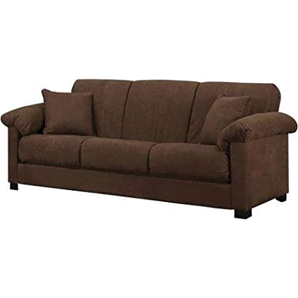 Amazon.com: Montero Microfiber Convert-A-Couch Sofa Bed, Dark Brown