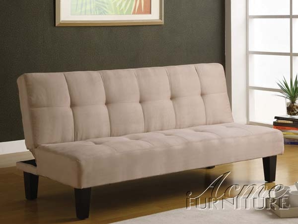 Emmet Beige Microfiber Adjustable Sofa Bed by Acme - 05673
