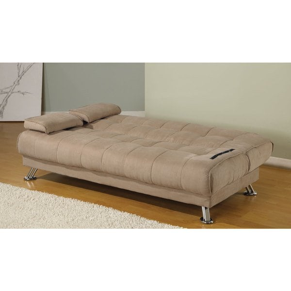 Shop Coaster Company Tan Microfiber Sofa Bed - Free Shipping Today