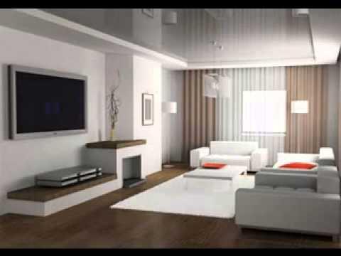 Modern minimalist living room interior design - YouTube