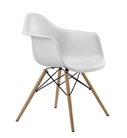 Amazon.com - DHP C013702 Mid Century Modern Chair with Molded Arms