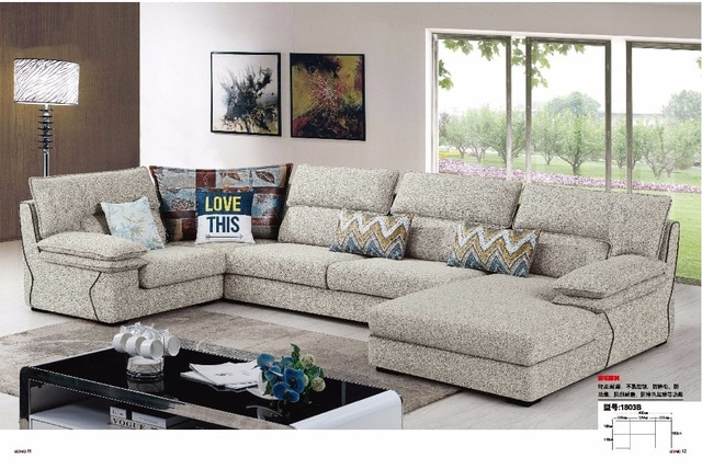 LDM1803A Modern simple style living room furniture sectional sofa
