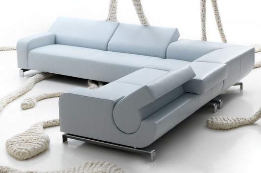 Modern Comfortable Flat Sofas Design with Flexible Backrest, by