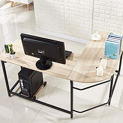 Amazon.com: Hago Modern L-Shaped Desk Corner Computer Desk Home