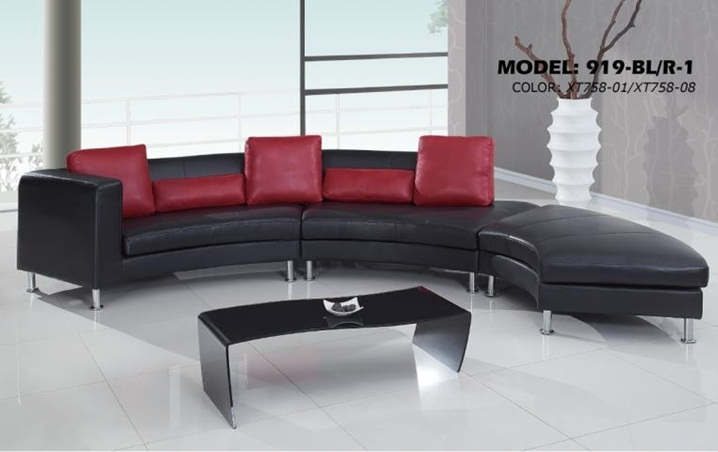 Contemporary S Curved Sectional Sofa with Contrasting Modern Pillows