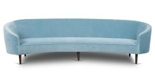 Modern & Contemporary Curved Couch | AllModern