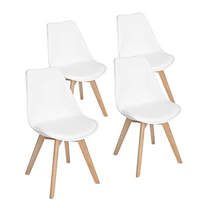 Amazon.com - Set of 4 Modern Accent Side Dining Chair Kitchen Chairs