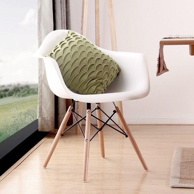 Modern Design Dining Armchair / Plastic and Wood Dining Chair/ hot