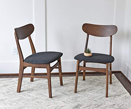 Amazon.com: Mid Century Modern Dining Chairs SET OF 2 by Edloe Finch