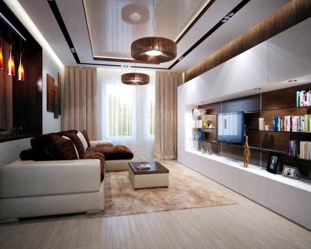 Living room interior design ideas u2013 brown is modern | Interior