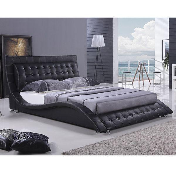 Dublin Modern King Size Black Platform Bed | Overstock.com | Bedroom