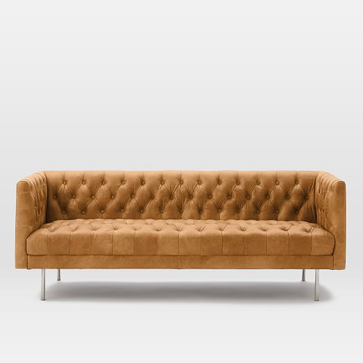 Modern Chesterfield Leather Sofa (79