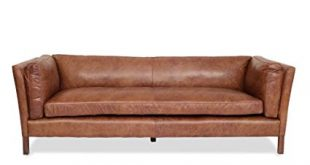 Amazon.com: Edloe Finch Modern Leather Sofa - Mid Century Modern