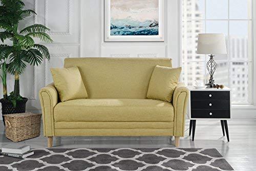 Amazon.com: Divano Roma Modern 2 Tone Small Space Linen Fabric