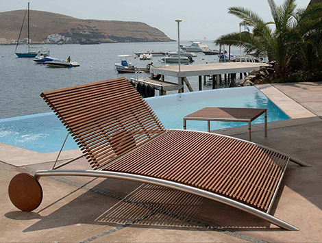 Modern Outdoor Furniture from Beltempo - wood and metal contemporary