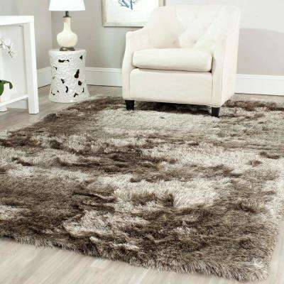 5 X 7 - Brown - Shag - Area Rugs - Rugs - The Home Depot