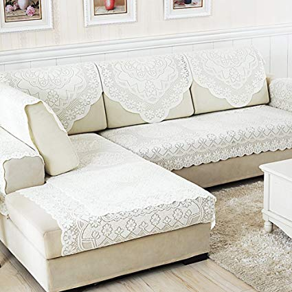 Amazon.com: YANGYAYA Lace Sofa Towel,Simple Modern Sofa Cushion Non
