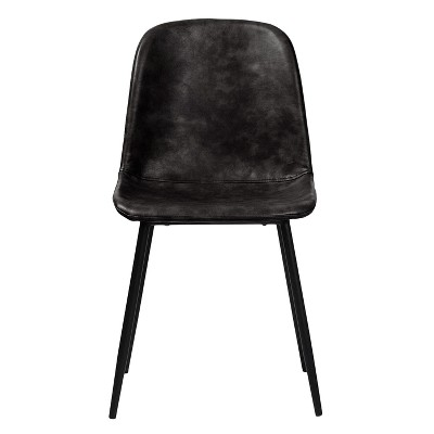 Max Modern Upholstered Faux Leather Dining Chair (Set Of 2) - Aeon