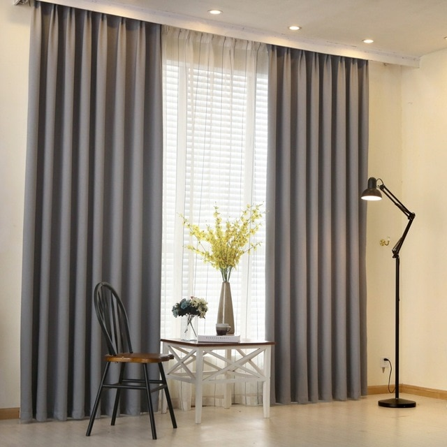 NAPEARL Modern curtain plain solid color blackout full shade living