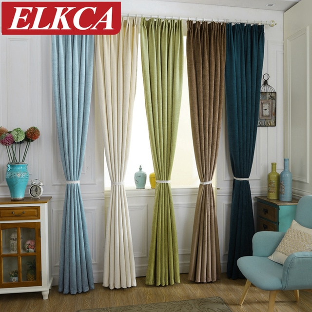 Luxury Chenille Curtains for Living Room Modern Window Curtains for