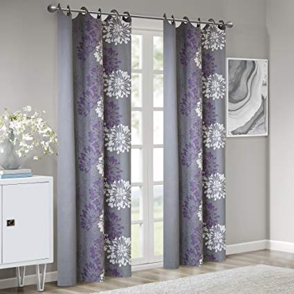 Amazon.com: Grey Purple Curtains for Living Room, Modern