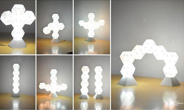 Plug-in Hex | Modular Lighting | Pinterest | Lamp design, Lighting
