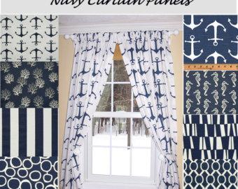 Nautical curtains | Etsy