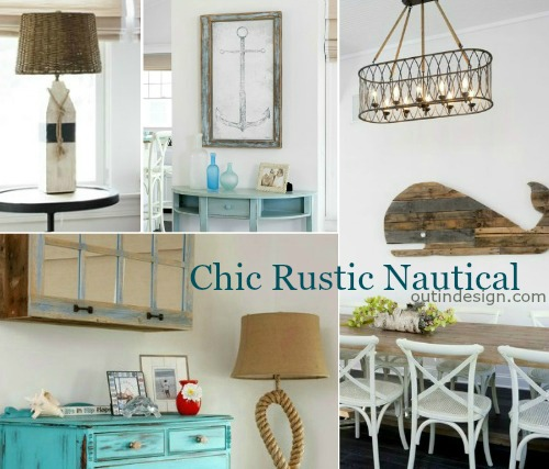 Nautical Home Decor Ideas with Reclaimed Wood Furnishings & Rustic