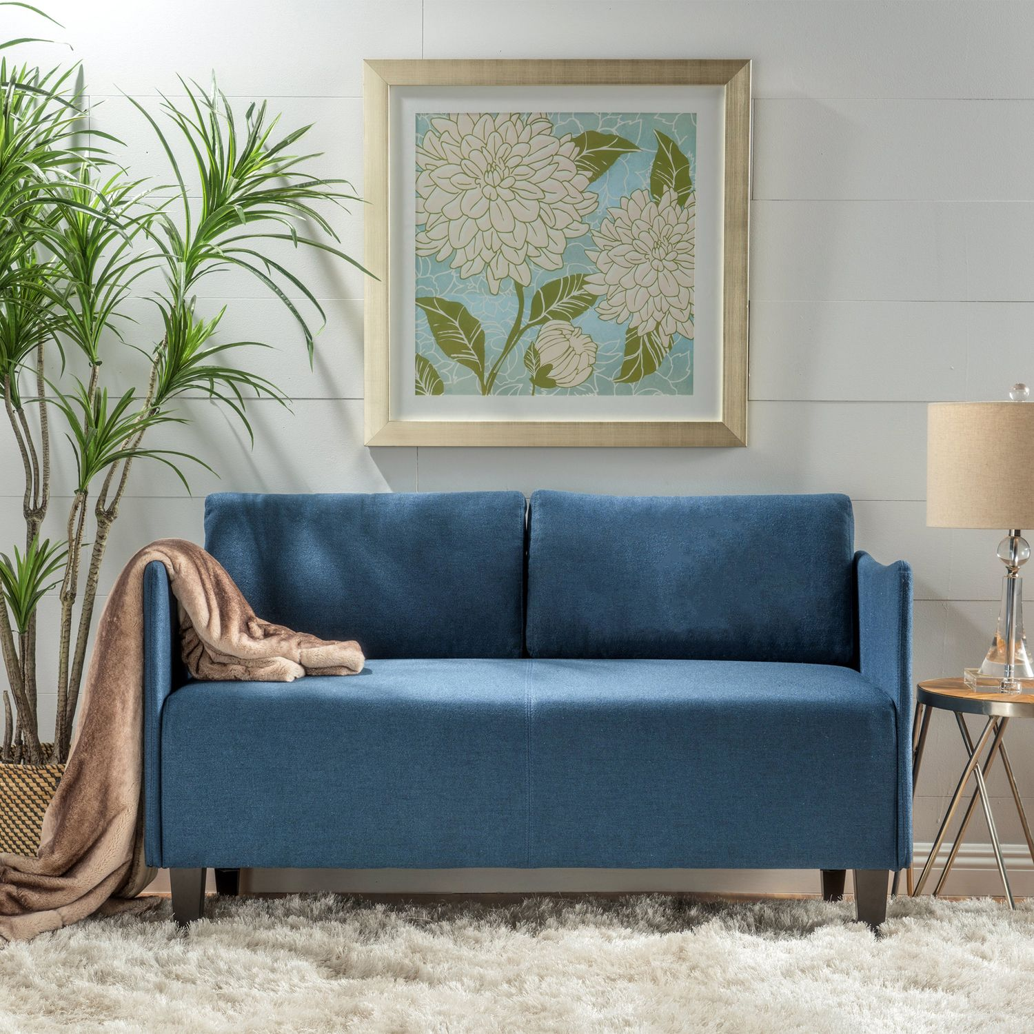 Aden Navy Loveseat | Pier 1