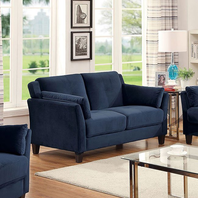 Ysabel Loveseat (Navy) Furniture Of America | Furniture Cart