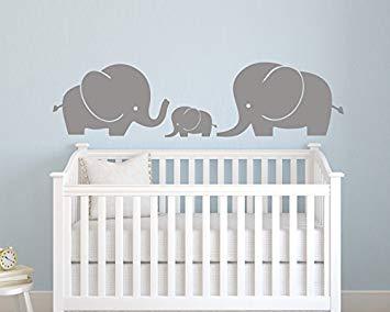 Amazon.com: Elephant Family Wall Decal - Nursery Wall Decals