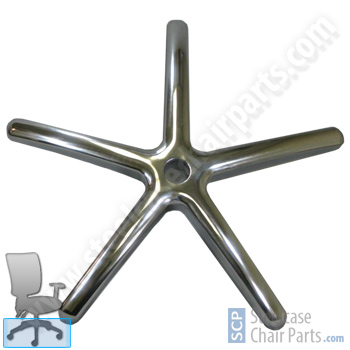 Polished Aluminum Office Chair Base - $44.99