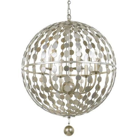 Layla Orb Chandelier in Silver by Crystorama | Lighting Connection