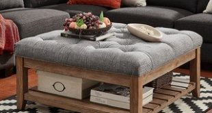 Shop Lennon Pine Planked Storage Ottoman Coffee Table by iNSPIRE Q