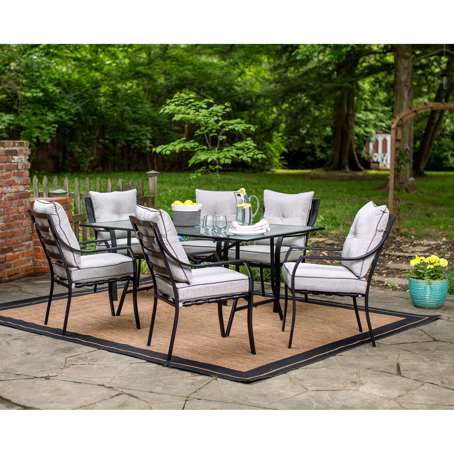 7-Piece Outdoor Dining Set - Walmart.com