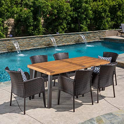 Amazon.com: Great Deal Furniture | Delgado 7-Piece Outdoor Dining