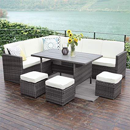 Amazon.com : Wisteria Lane Outdoor Patio Furniture Set, 10 PCS