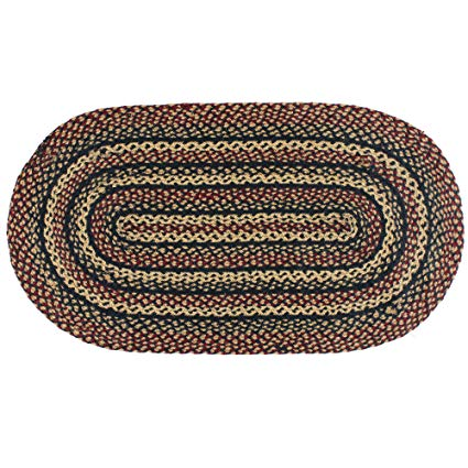 Amazon.com: IHF Rugs Blackberry Oval Braided Rug - 3'x5': Kitchen